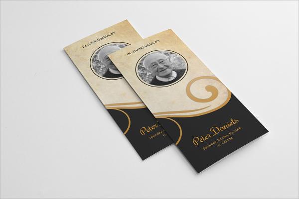 memory tri fold brochure template