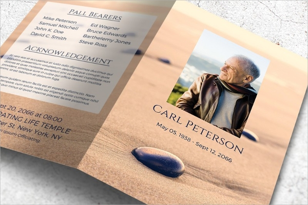 17 memorial brochure templates sample templates for Funeral brochure template