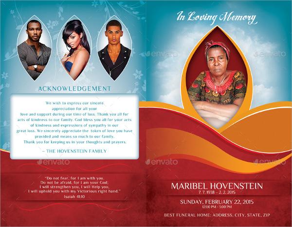 editable memorial brochures