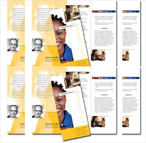 memorial fund brochure