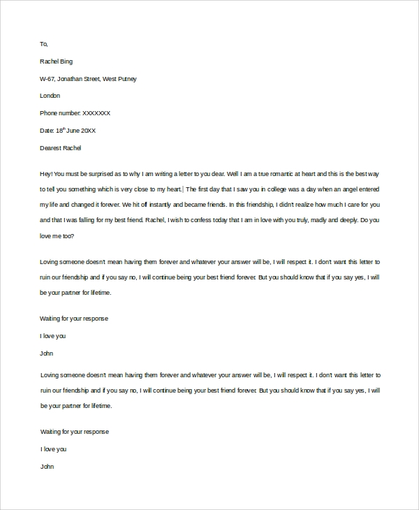 proposal love letter