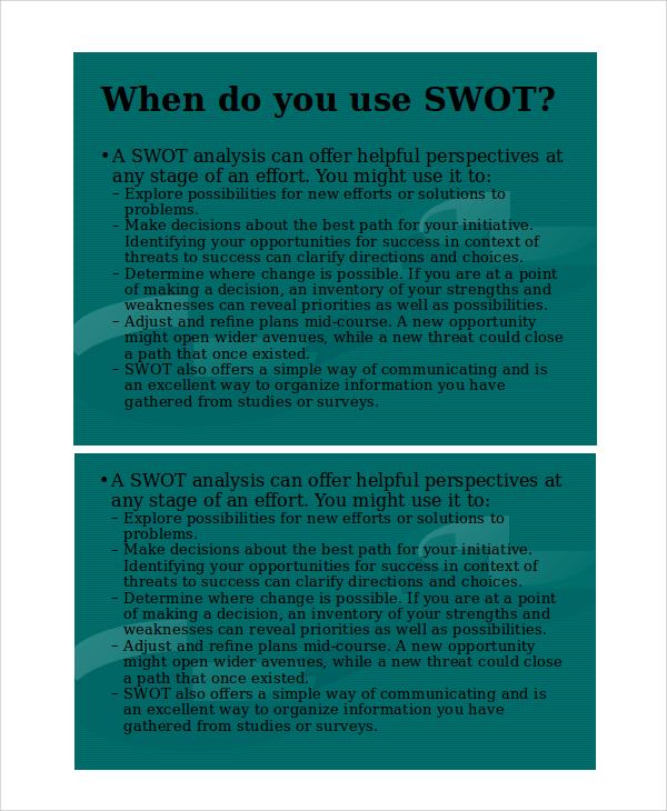 swot business presentation template