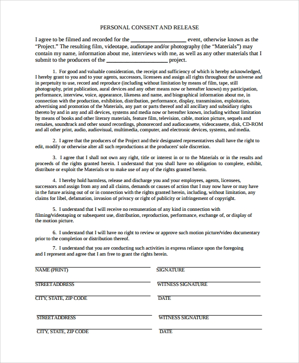 Sample Interview Consent Form 9 Free Documents Download in Word – Consent Form
