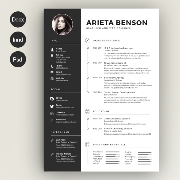 15 PSD Resume Templates