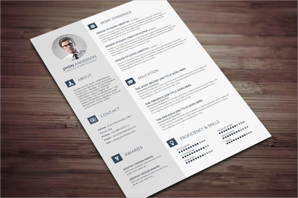 editable psd resume template