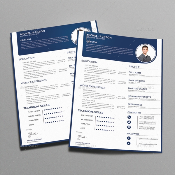 fashion resume templates 15 psd resume templates sample templates 21678 | Fashion Designer Resume CV Template