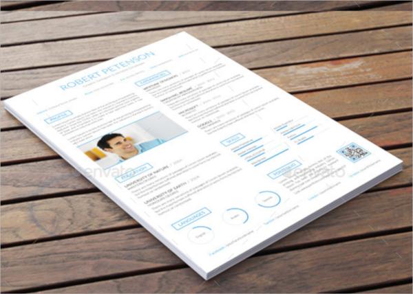 creative resume psd
