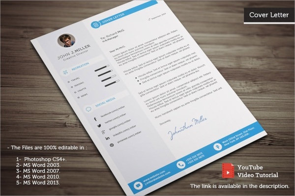 perfect psd resume template
