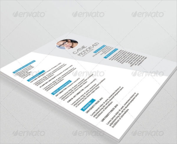 elegant resume psd template