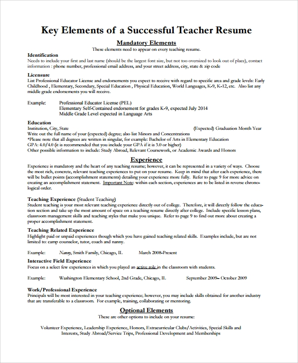 teacher guidance counselor resume