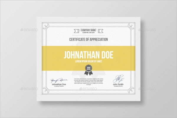 simple psd certificate template