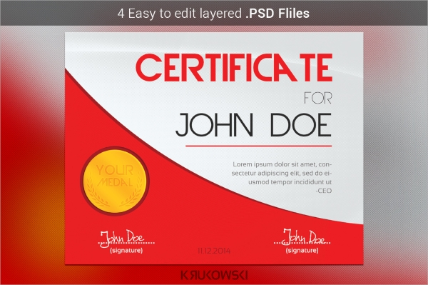 30 psd certificate templates sample templates modern certificate template psd yelopaper Image collections