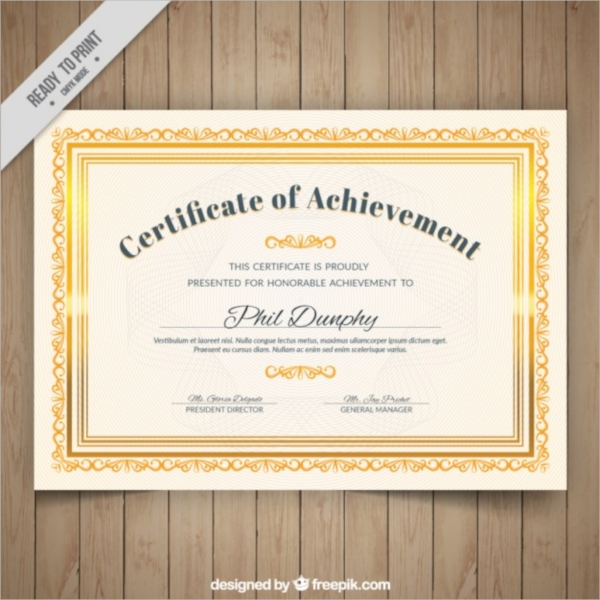 Psd Certificate Templates  Psd Free Formats Download
