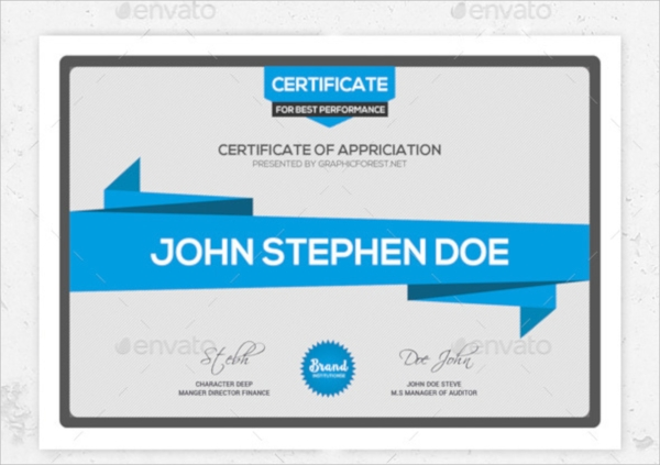 photoshop psd certificate template