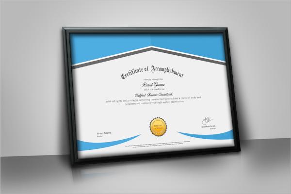 editable psd certificate template