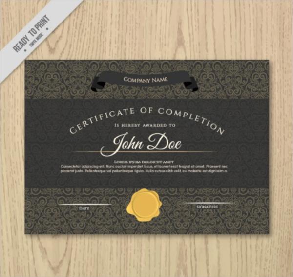 blank psd certificate template