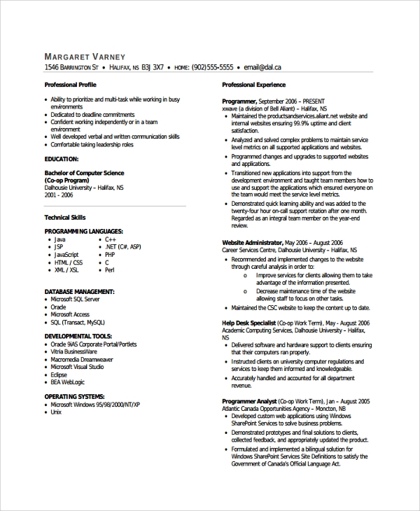 9  help desk technician resume templates