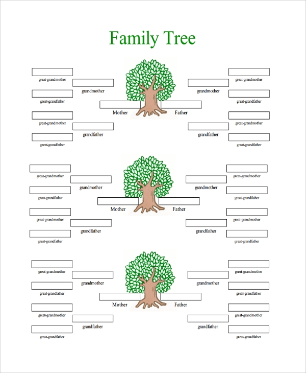 18 sample family tree chart templates sample templates for Family tree templates with siblings