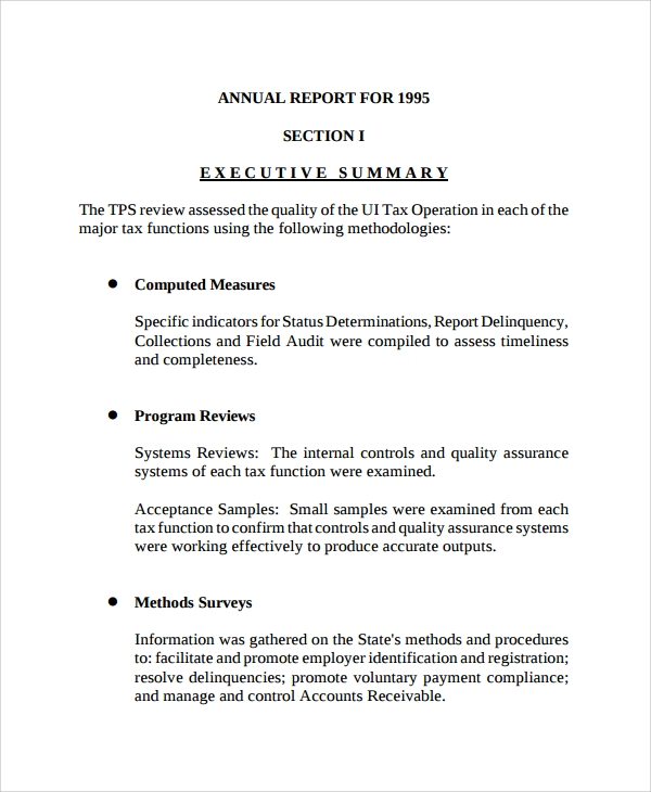 Sample Report Outline Template   Free Documents Download In Pdf
