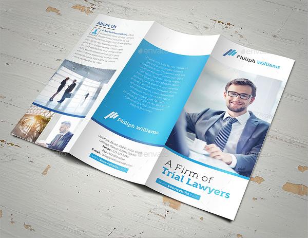 law firm brochure psd