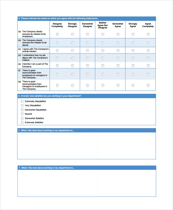 Sample Survey Example Template   Free Documents Download In Pdf Word