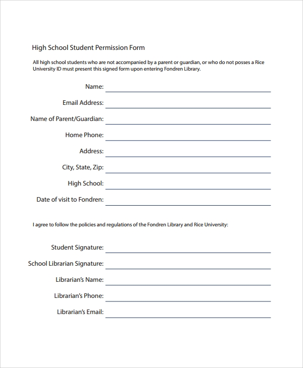 Parent Permission Form Template   Images  Parental Consent