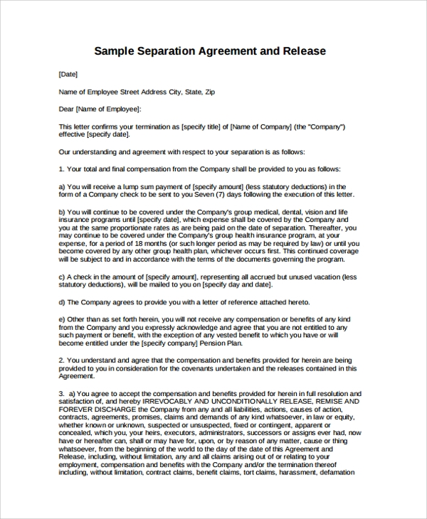 Sample Employment Termination Agreement - 8+ Free Documents