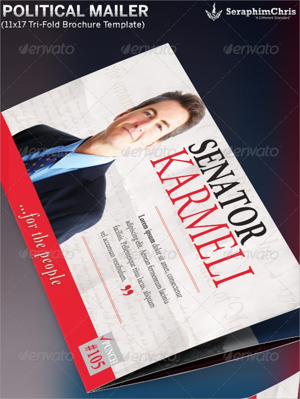 10 political brochures sample templates for Photoshop tri fold brochure template