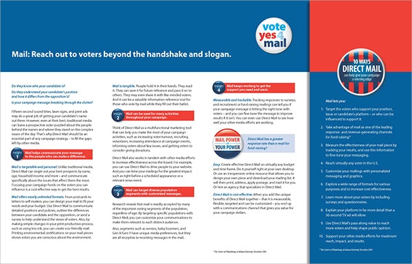 mailer format template - 10 political brochures sample templates