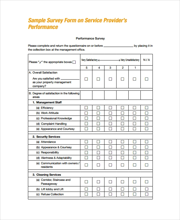Sample Survey Form Template - 9+ Free Documents Download in PDF, Word