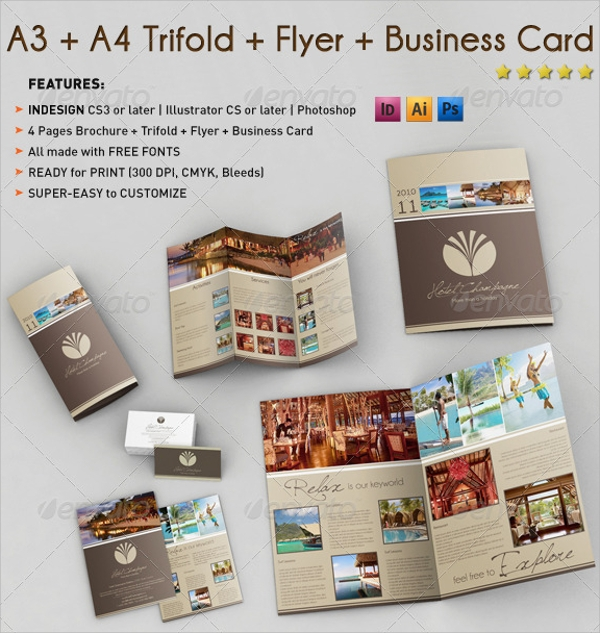 a4 folded brochure