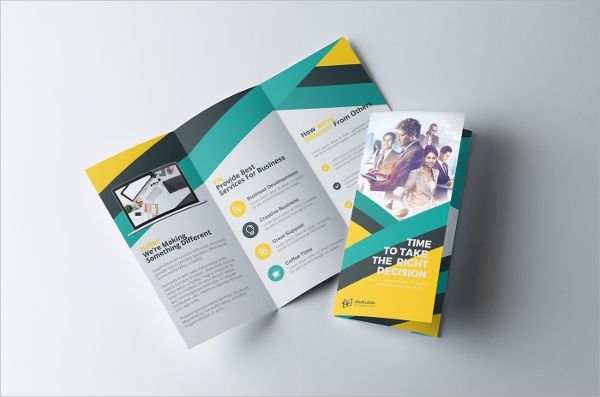 attractive folded brochure