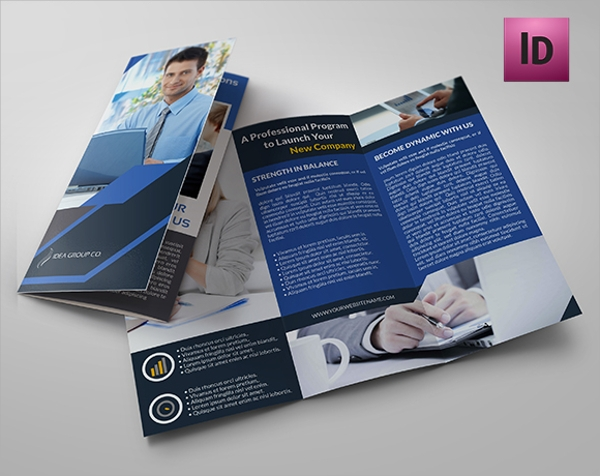 beautiful folded brochure