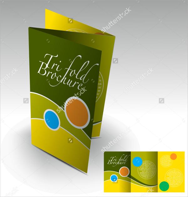 colourful folded brochure