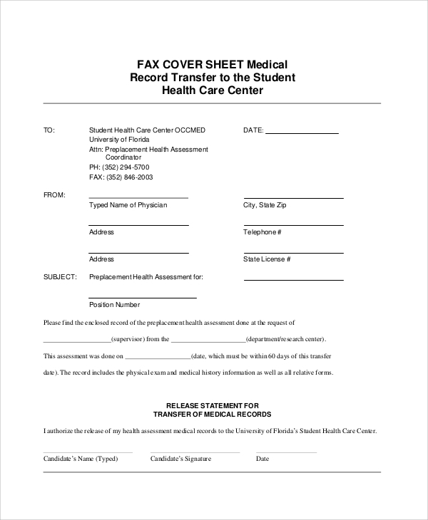 Sample Generic Fax Cover Sheets 8 Documents In PDF Word