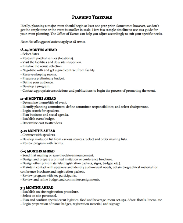 Event Planning Template. Event Planning Master Sheet Checklist Pdf