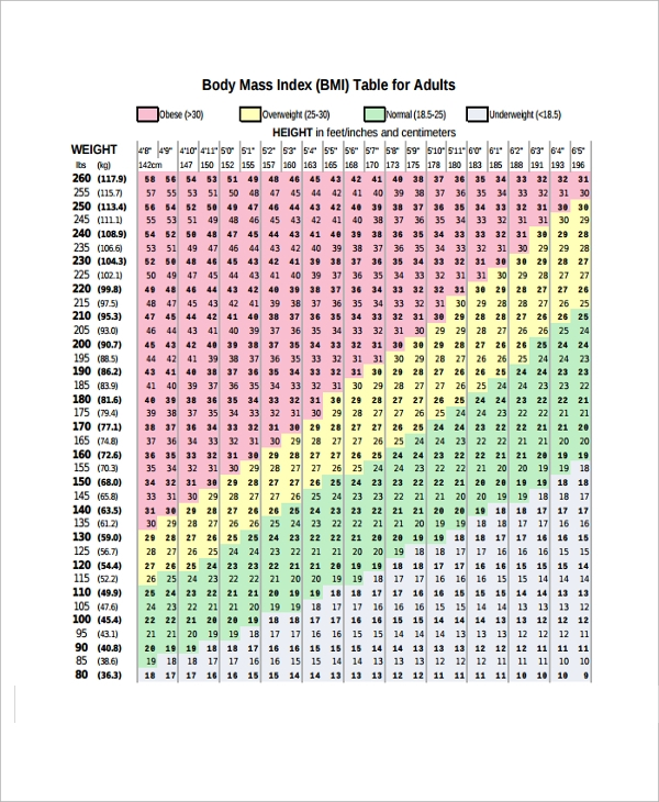 bmi chart for adults1