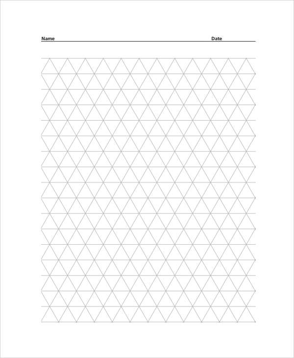 Sample Triangular Graph Paper Template   Free Documents
