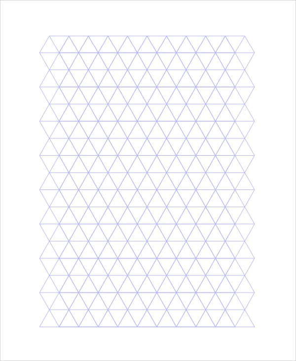 triangular grid paper 10  Triangular Graph Paper Templates | Sample Templates