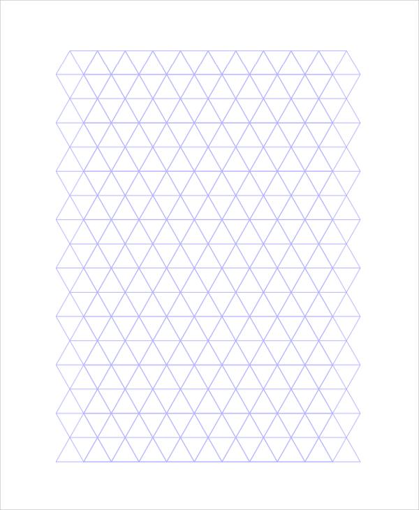 sample triangular graph paper template