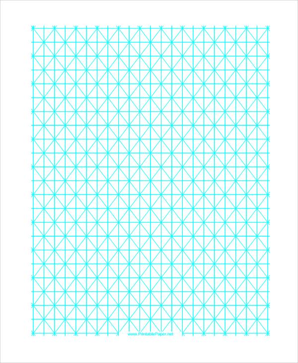 hypo metric triangular graph paper