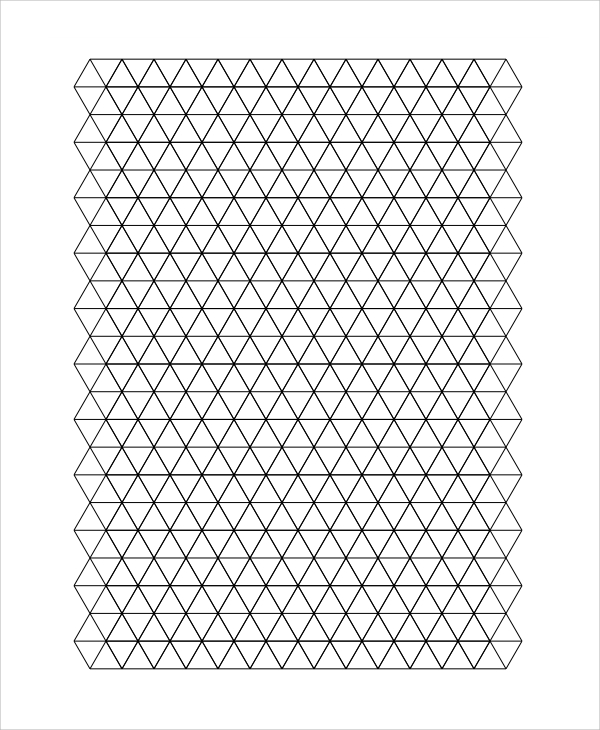 Triangle Graph Paper Printable  Imvcorp