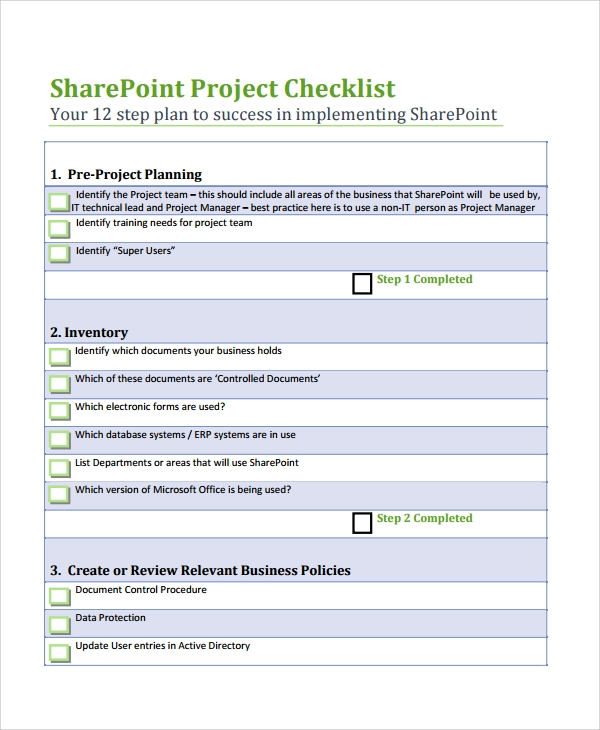 7 project list templates sample templates for Sharepoint requirements template