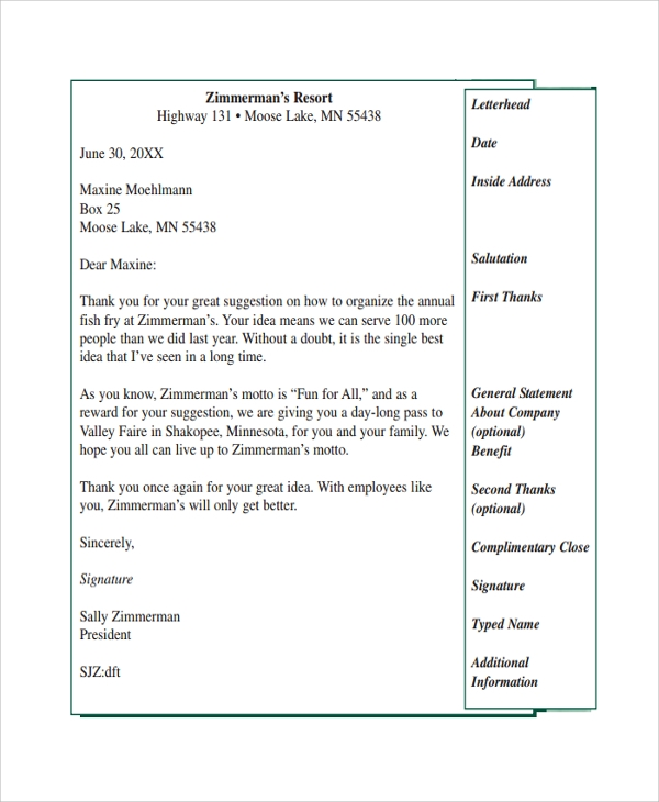 Sample Suggestion Letter - 7+ Free Documents Download In Pdf, Word