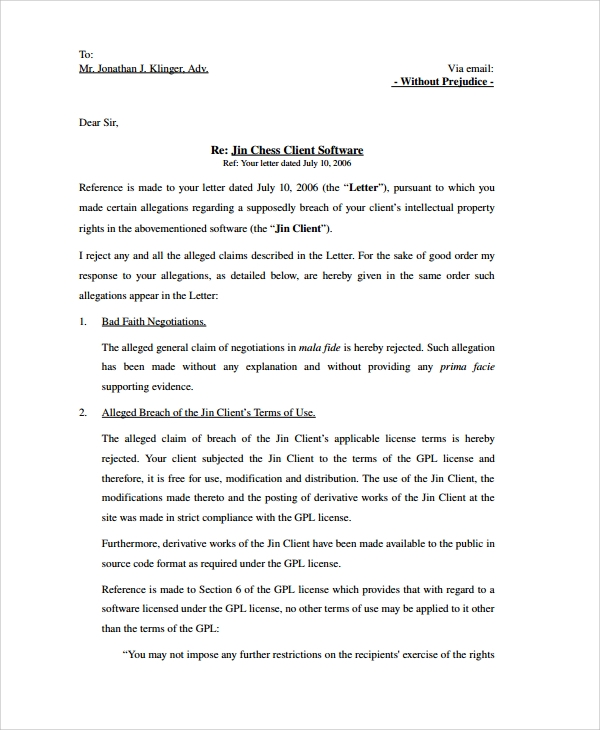 Sample Response Letter - 8+ Free Documents Download in PDF, Word
