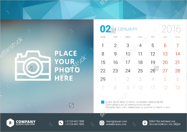 desk photo calendar