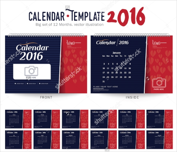 annual photo calendar template