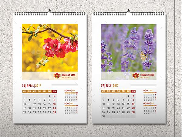 flowers photo calendar
