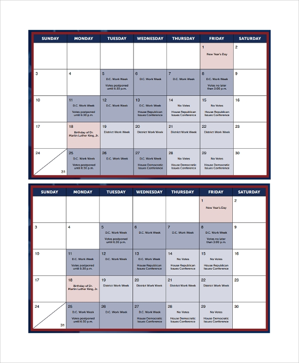 Sample Monthly Timetable Template   Free Documents Download In