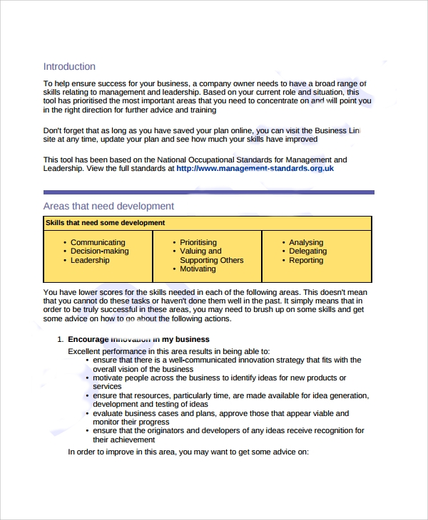 7 business development plan templates sample templates for Developing a business strategy template